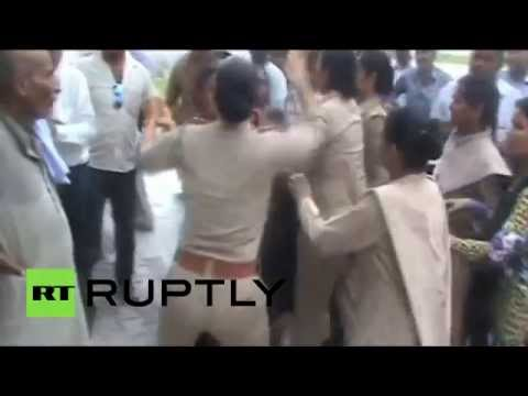 Female police officers beat Indian women for accusing senior officer of rape