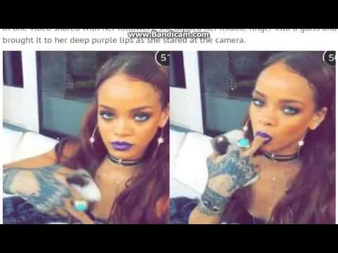Rihanna sucks her middle finger in Coachella clips as she shares backstage view on Snapchat