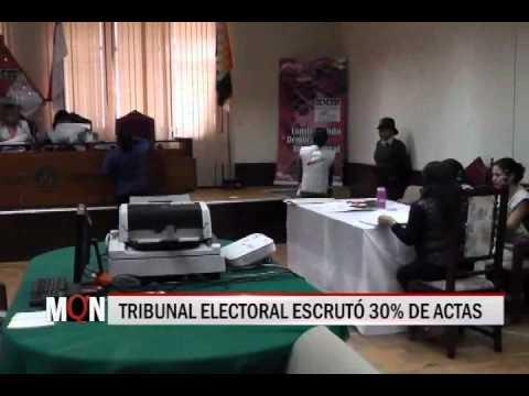 31/03/2015-19:00 TRIBUNAL ELECTORAL ESCRUTÓ 30% DE ACTAS