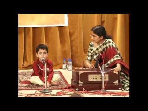 First stage singing performance by Ashutosh_ Darshan Do Ghanshyam...
