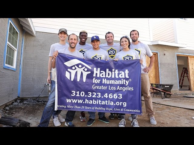 "LA Galaxy kickoff ""20 For Twenty"" with Habitat For Humanity service project"