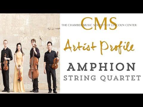 Amphion String Quartet - January 2015, CMS Artist Profile