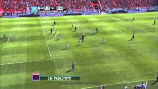 Gol de Vitti.Independiente 1 Tigre 1.Fecha 13.Torneo Primera División 2014.FPT