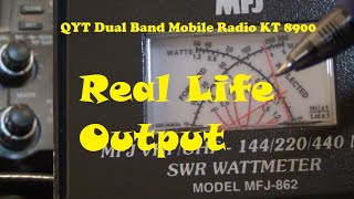 QYT Dual Band Mobile Radio KT 8900 real life power out,  Not bad for $100 – AF5DN