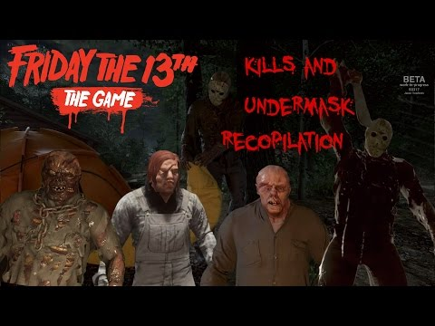 Friday the 13th the game kills and undermask recopilation
