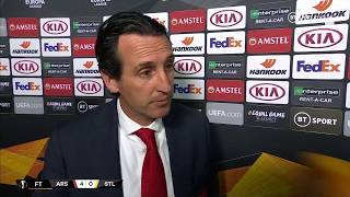 A good evening for Arsenal fans, Unai Emery gives his thoughts