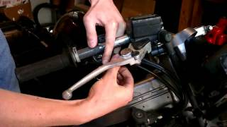Fixing a sticky/loose motorcycle throttle