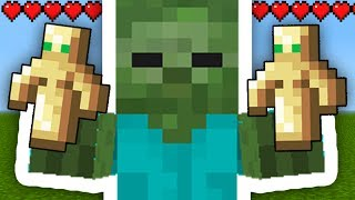 You should NEVER give the TOTEM to Mobs in Minecraft Pocket Edition // Minecraft PE Update Secrets