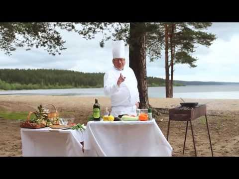 Барбекю: сиг, запеченный с овощами