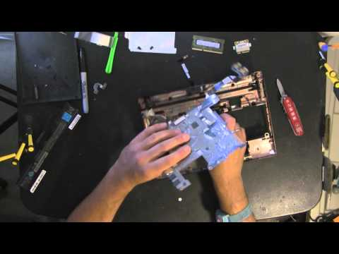 TOSHIBA NB505 take apart video. disassemble. how to open disassembly