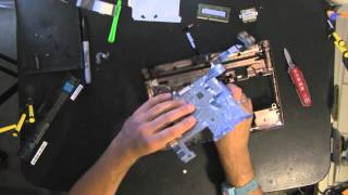 TOSHIBA NB505 take apart video, disassemble, how to open disassembly