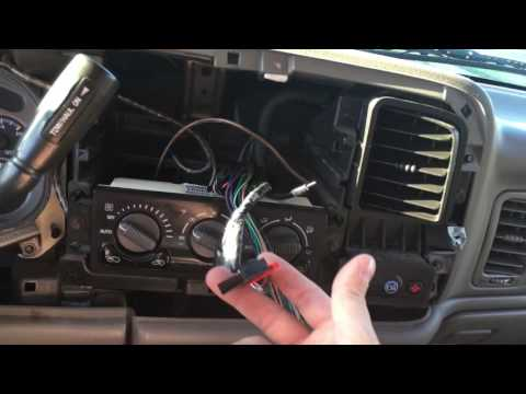 How to install aftermarket stereo with a stock Bose sound system Tahoe. Yukon. Suburban. Escalade