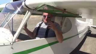 Alex Flies his Mini Cub First Solo Flight