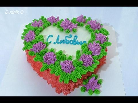 Масляный крем для украшения торта Кремовые цветы для торта
