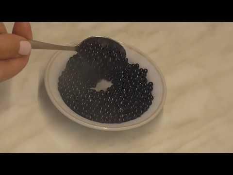 Как сделать чёрную икру из желатина.