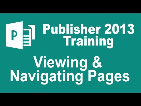 Microsoft Publisher 2013 Training - Viewing and Navigating Pages