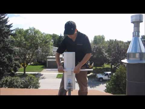 Hdtv Antenna Roof Installation With Proper Grounding video