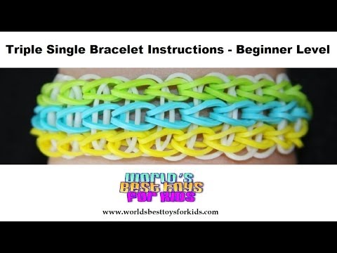 Rainbow Loom Rubber Band Refill - Triple Single Bracelet Instructions
