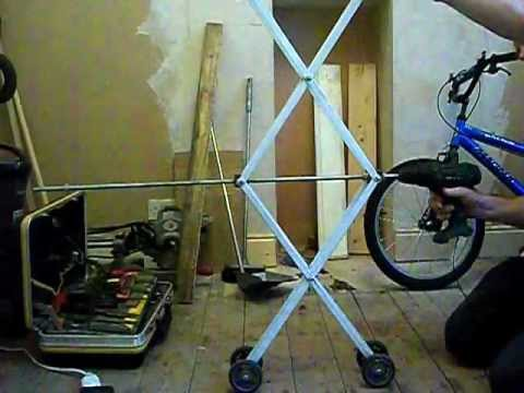 Homemade tv monitor lift mechanism part one avi youtube for Motorized vertical tv lift