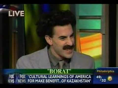 Interview about BORAT on Fox and Friends