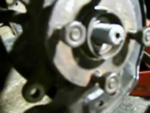 Front Wheel Bearing Replacement Part 1 of 6: Removing Toyota Yaris & Echo Front Wheel Hub