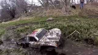 "2.8"" Pro-Line Trenchers Mud test Traxxas Slash 4x4 how to wash"