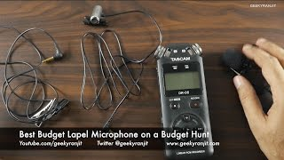 Best Lapel Microphone on a Budget Sub $25 Sony vs Olympus Vs Ahuja