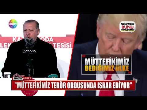 """Erdoğan: """"Müttefikimiz terör ordusunda ısrar ediyor"""""""