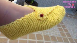 Tejido de punto cuadrado con dos agujas+Decoracion a crochet