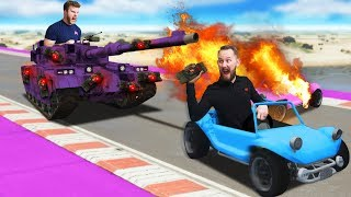Destroying The Indestructible Tank Challenge?! | GTA5
