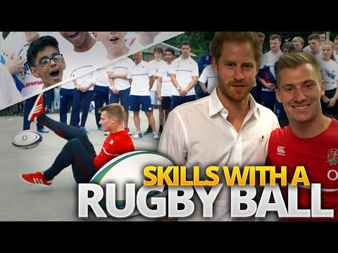 FREESTYLE RUGBY SKILLS with PRINCE HARRY!