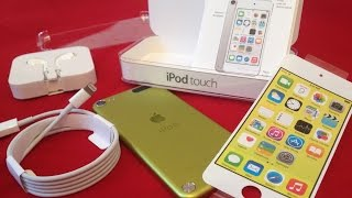 Déballage iPod Touch 5g Jaune 16go ..2015..