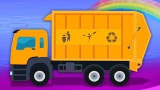 垃圾车   形成视频   洗车   卡车为孩子们   动画片   Video For Kids   Garbage Truck