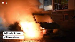 GIFTIG ZOUTZUUR: in woonwijk door fikkend drugsafval