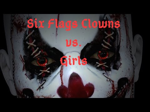 Girls get a scare at SF Great America Fright Fest