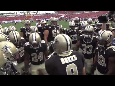Drew Brees Saints Huddle Drew Brees 2013 Saints Pre