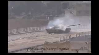Syria T-72 hit from an RPG without consequences