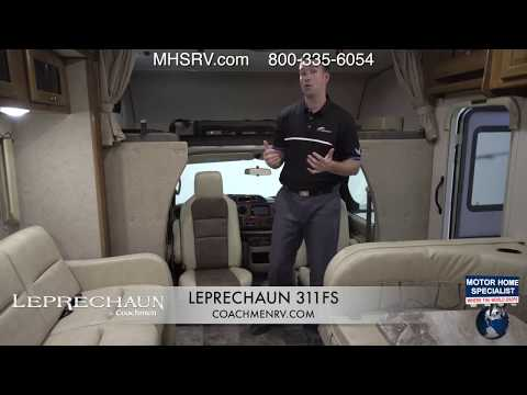 Coachmen RV Factory Representative Walk Around on 2018 Leprechaun Class C RV at MHSRV.com
