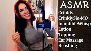 ASMR! Ever heard crinkles in Slo-Mo? Scratching, Lotion, Tapping and more