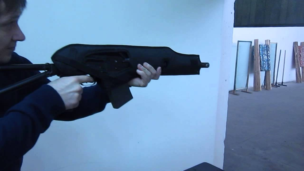 Стрельба из Сайги 12 в оружейном чехле