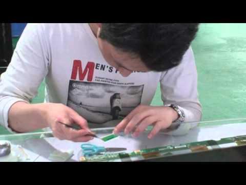 Large LCD repair machine video of how to repair the TV LCD screen