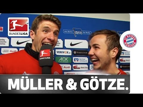 Interview of the Champions! Müller Chats to Götze after Title Win