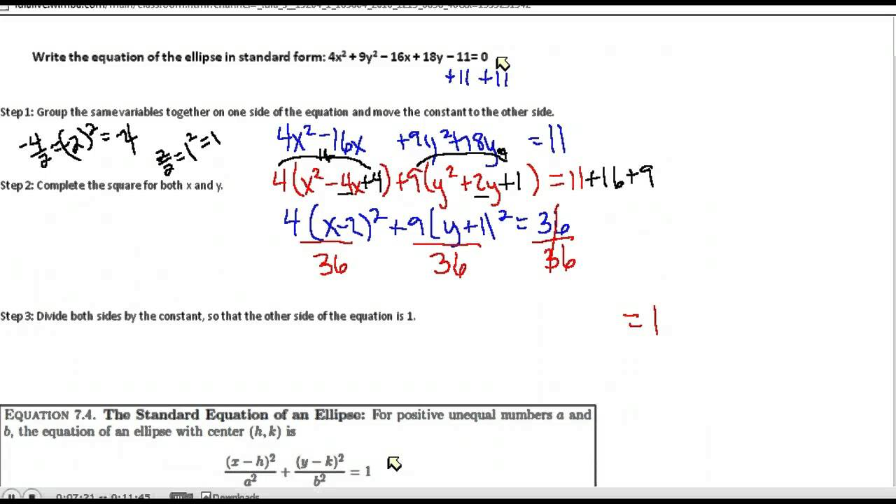 Equation of ellipse in standard form choice image standard form standard form of ellipse info ellipse standard form pic source falaconquin falaconquin