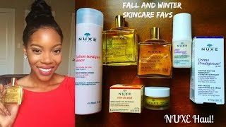 Fall/Winter Skincare Favorites Mini Series 1- NUXE Haul