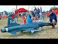 AMAZING BIG RC F-20 TIGERSHARK SCALE MODEL TURBINE JET FLIGHT DEMONSTRATION