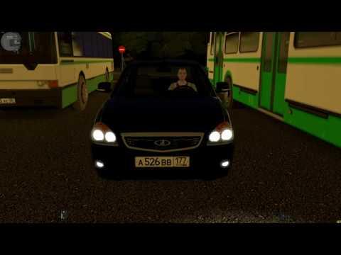 City Car Driving - Гонки по ночному городу на Lada Priora 2