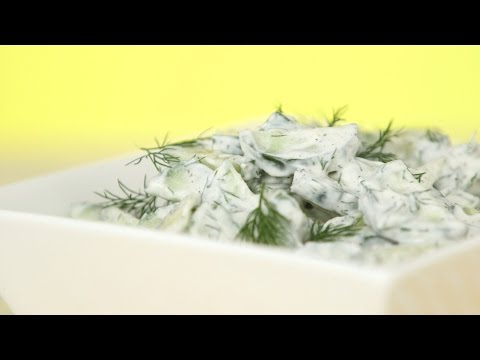 Cucumber Salad with Sour Cream & Dill - Everyday Food with Sarah Carey