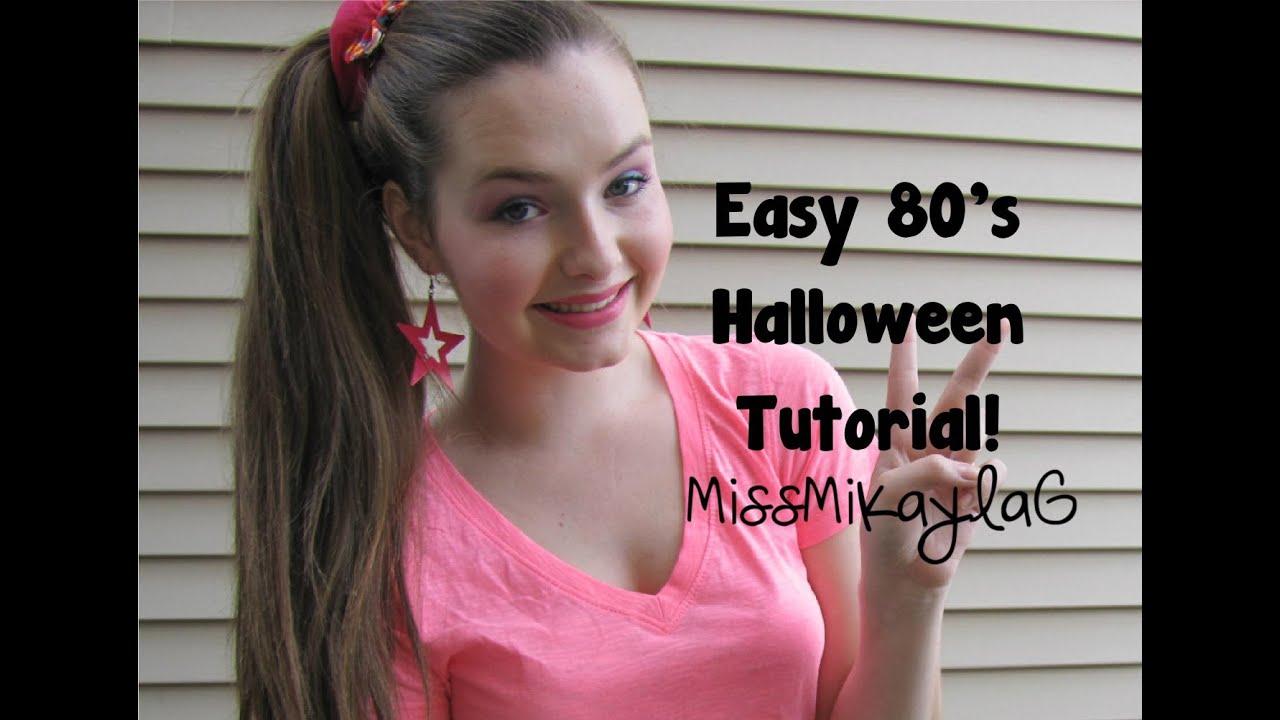Easy 80u0026#39;s Halloween Tutorial! - YouTube