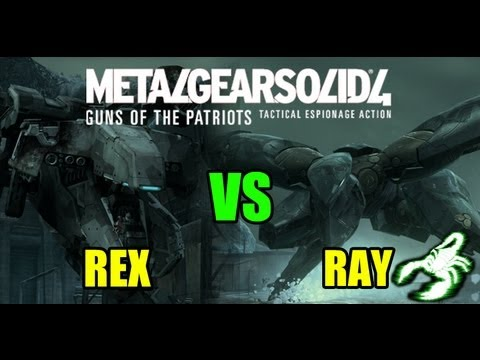 Metal Gear Solid 4 - Metal Gear Rex Vs Ray Hd video