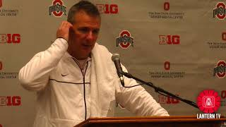 Ohio State HC Urban Meyer speaks after his team